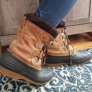Sorel Brown Leather Badger Boots Sz 6